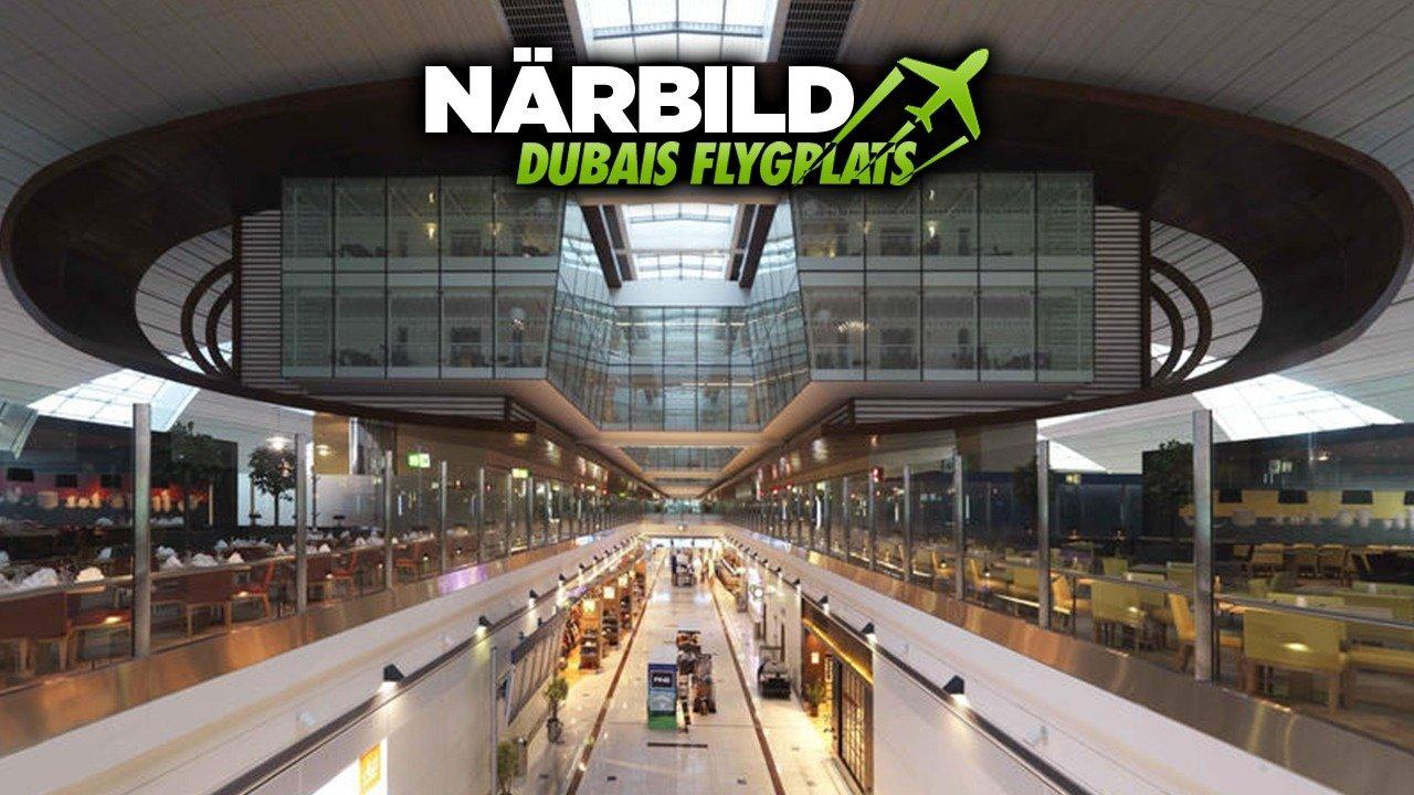 Närbild - Dubais flygplats
