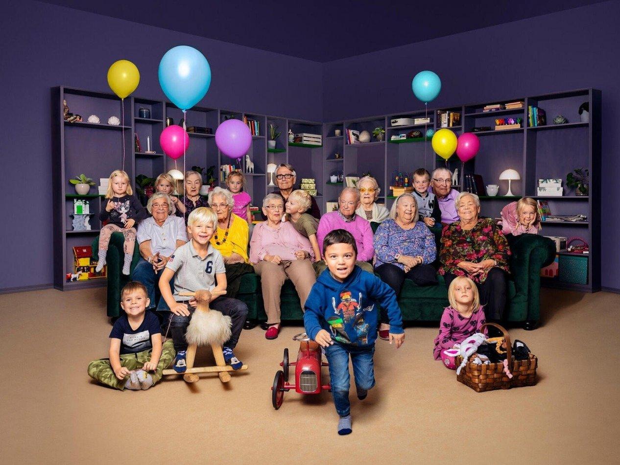 Fyraåringarna på äldreboendet