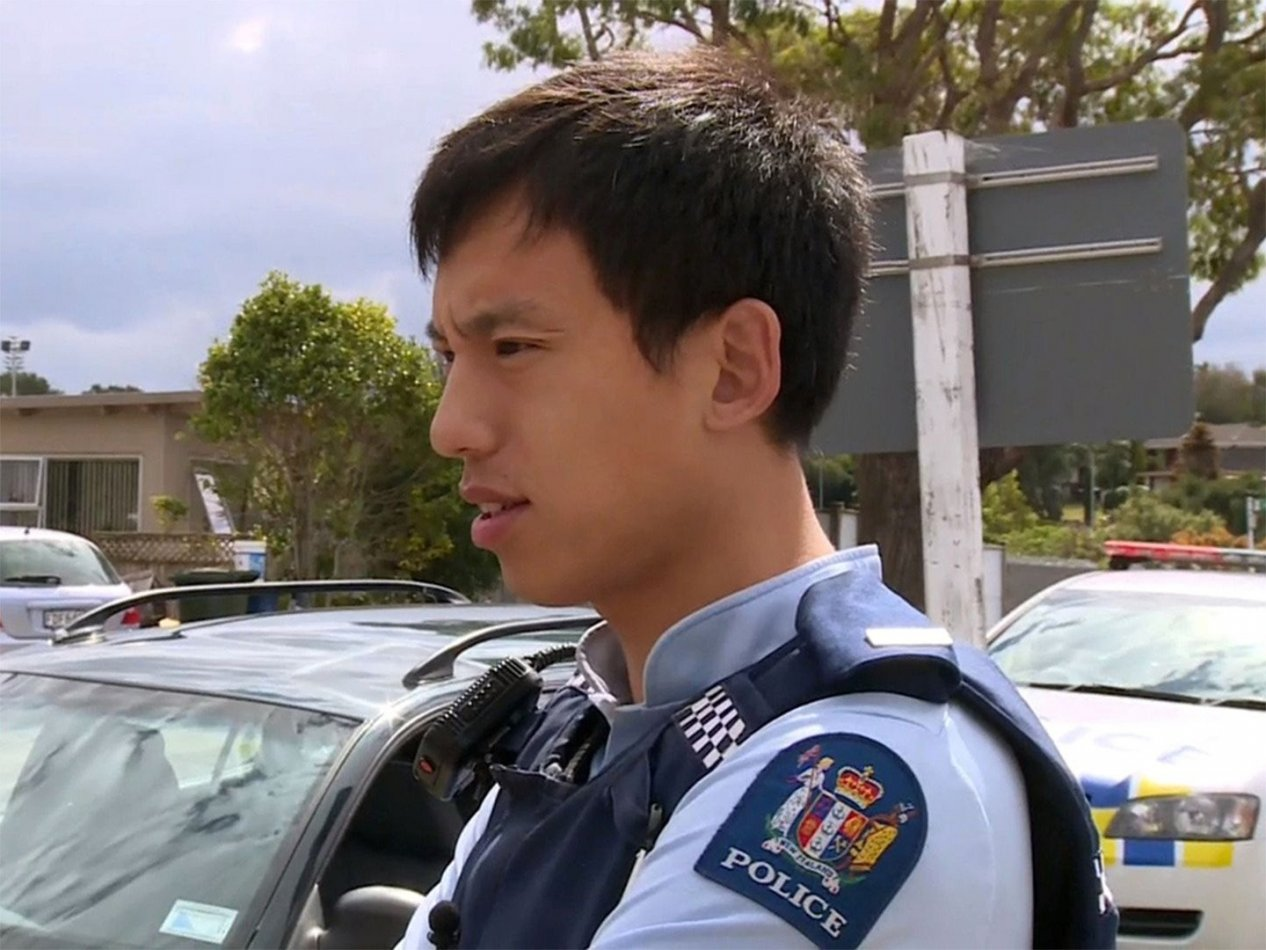 Polis på plats